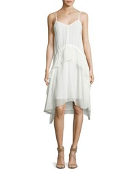 Elizabeth And James Cynthia Sleeveless Silk Voile Ruffle Dress Ivory