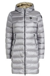 Blauer Impermeable Quilted Down Coat Grey
