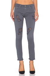 Acquaverde Skinny Jean Anthracite Super Destroy Raw Edge
