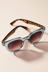 Anthropologie Lois Sunglasses Blue