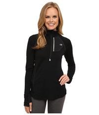 New Balance Performance Merino 1 2 Zip Top Black Women's Long Sleeve Pullover