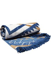 The Beach People Lorne Round Cotton Terry Towel With Cushion Navy
