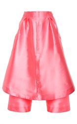 Alexis Mabille A Line Midi Skirt Pink