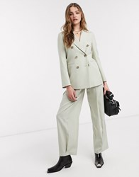 Topshop Tailored Trousers Co Ord In Pale Green
