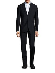 Valentino Blended Mohair Wool Suit Black