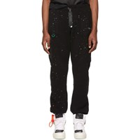 Off White Black Paint Splatter Lounge Pants