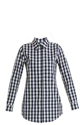 Solid And Striped Gingham Boyfriend Shirt Navy