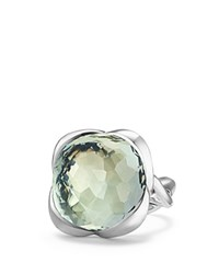 David Yurman Continuance Ring With Prasiolite Green Silver