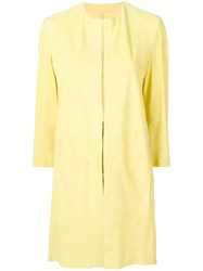 Drome Leather Overcoat Yellow