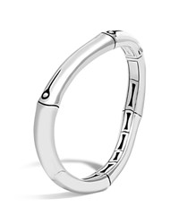 John Hardy Sterling Silver Bamboo Curved Hinged Bangle