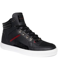 Sean John Corsica Hi Top Sneakers Men's Shoes Black Red