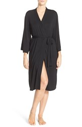 Nordstrom Lingerie Women's Nordstrom 'Moonlight' Jersey Robe Black
