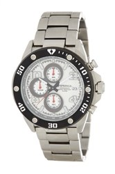 Brooks Brothers Men's Tokyo Style Chronograph Bracelet Watch Metallic