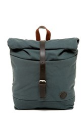Enter Leather Trimmed Roll Top Backpack Green