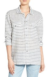 Women's Hudson Jeans 'Grace' Oversize Cotton And Linen Button Down Shirt