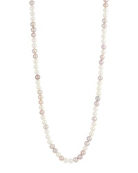 Belpearl Long Pink And White Freshwater Pearl Necklace Women's