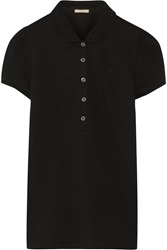 Burberry Cotton Blend Pique Polo Shirt