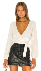 X By Nbd Bea Embellished Top In Ivory. Sand Ivory