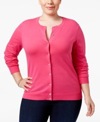 Karen Scott Plus Size Button Front Cardigan Only At Macy's Wild Punch