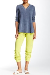 Central Park West Burnout Acid Wash Relaxed Fit Drawstring Pant