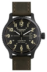Men's Filson 'The Mackinaw Field' Watch 43Mm Dark Green Black
