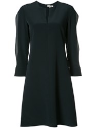 Dorothee Schumacher Slit Round Neck Dress Blue