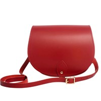 N'damus London Leather Saddle Bag In Red