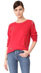 The Kooples Cashmere Sweater With Pins Red