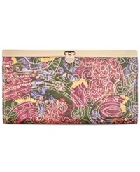 Patricia Nash Metallic Tooled Lace Cauchy Wallet Metallic Paisley