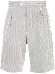 Engineered Garments Tapered Shorts With Stripes Blue