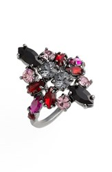 Women's Marchesa 'Poppy' Cocktail Ring Red Multi Nordstrom Exclusive