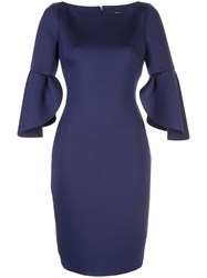 Badgley Mischka Tulip Sleeve Dress 60