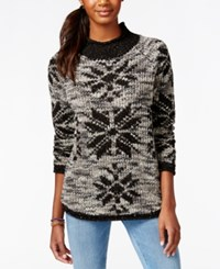 American Rag Shine Snowflake Pullover Tunic Sweater Only At Macy's Classic Black