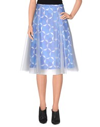 Douuod 3 4 Length Skirts Blue