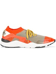 Marc Cain Knitted Sneakers Polyester Yellow Orange
