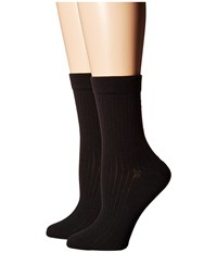 Pact Organic Cotton Crew Socks 2 Pack Black Women's Crew Cut Socks Shoes