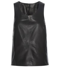 Calvin Klein Jeans Exclusive To Mytheresa.Com Racer Leather Tank Top Black