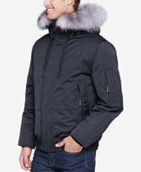 Andrew Marc New York Men's Alpine Bomber Jacket Black