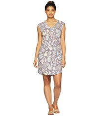 The North Face Short Sleeve E Z Tee Dress Medieval Grey Woodland Floral Print Multi