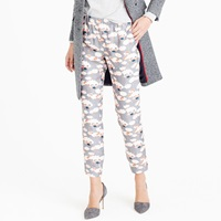 J.Crew Petite Collection Italian Silk Twill Pant In Thistle Floral