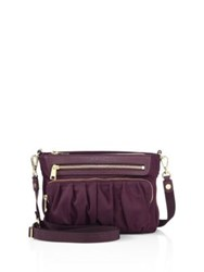 M Z Wallace Abbey Bedford Nylon Crossbody Bag Purple