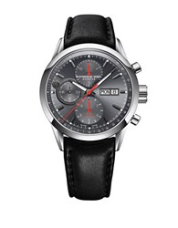 Raymond Weil The Freelancer Collection Stainless Steel And Leather Watch Silver