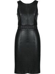 Lilly Sarti Leather Midi Dress Black