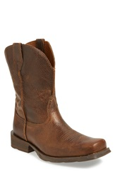 Ariat 'Rambler' Square Toe Leather Cowboy Boot Men Brown