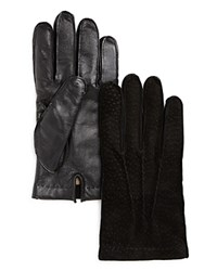 Bloomingdale's The Men's Store At Peccary Tech Gloves Black