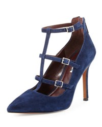 Bcbgeneration Tamerra Strappy Caged Suede Pump Navy