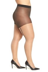 Pretty Polly Back Seam Pantyhose Plus Size Beige