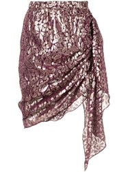 Romance Was Born Disco Paisley Wrap Skirt Purple