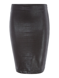 Pied A Terre Coated Jersey Skirt Black