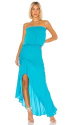 Young Fabulous And Broke Dreamboat Dress In Blue. Wild Teal